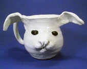Bunny Mug: Crazy Rabbit with Ears Flapping in the Breeze