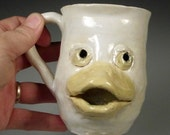 Lucky Duck - White Duckling Animal Face Mug (second)