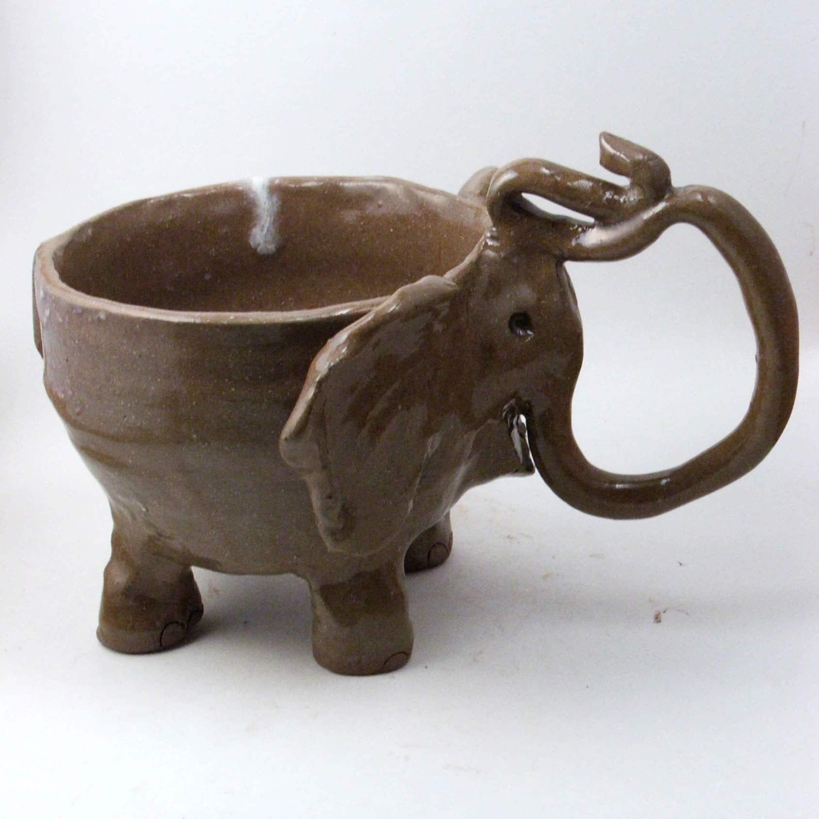 Ceramic animal cup the art room for Clay mug ideas