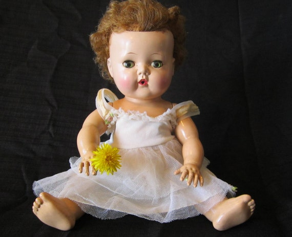 Tiny Tears Doll with Dress - American Character - 1950s