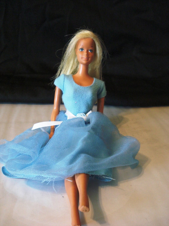 Vintage TNT Malibu Barbie with Dress - Pat. Pending Japan Marking