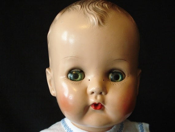 1950s Betsy Wetsy - Hard Plastic Head with Molded Hair and Crier - 16 Inch