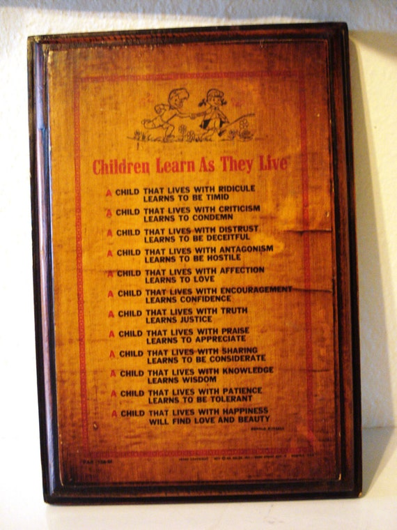 Children Learn As They Live Poem By Ronald Russell 1971