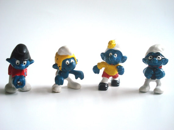 Crazy Smurfs - Small Lot - The Smurfs c1970 - 1980s