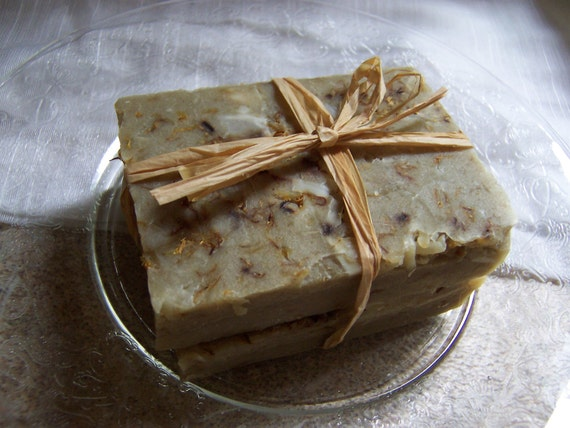 Goat milk soap, two rustic country, farmhouse or cabin style bars, made from scratch, peppermint