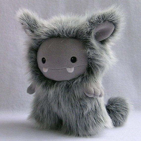 Grey Frost Plush Monster Toy