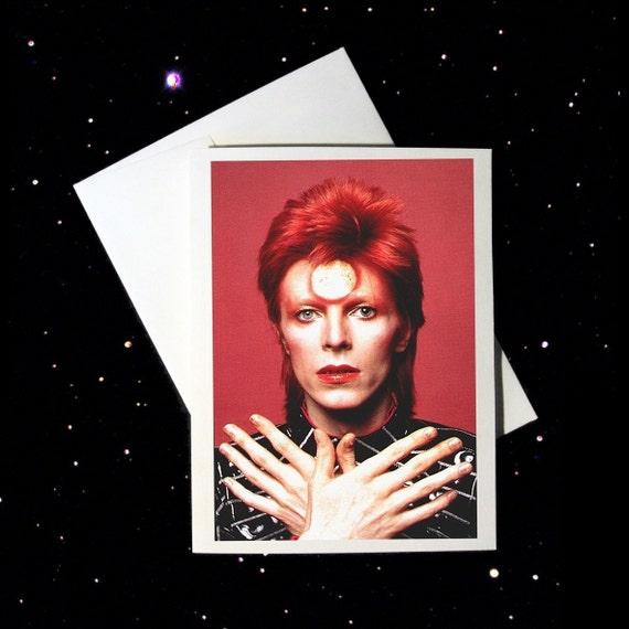 DAVID BOWIE Blank Greeting Card Ziggy Stardust