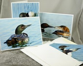 Common Loons, Note Card Set of (4)
