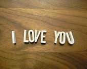 CHOICE of 10 Vintage White Porcelain Letters and gift box