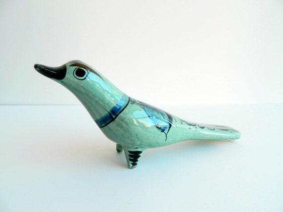 Hand painted Folk Art Tonala Pottery Dove from Mexico