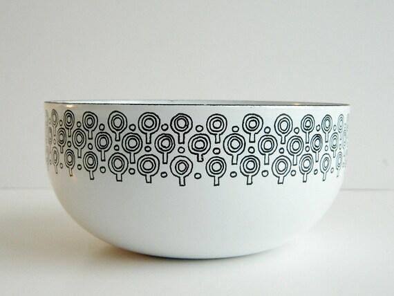 Mod black and white Enamel VEFA Bowl Merrill Ames