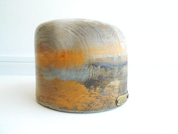 Vintage Wood Hat Block Millinery Mold Form
