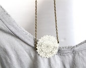White Doily Necklace