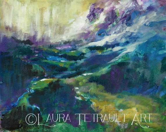 Artist At Play : Imaginative Landscape Original Painting 12x16 inches