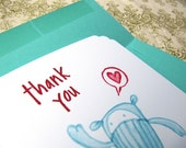 5 Scalloped Corner Thank You Cards (Eco-Friendly)