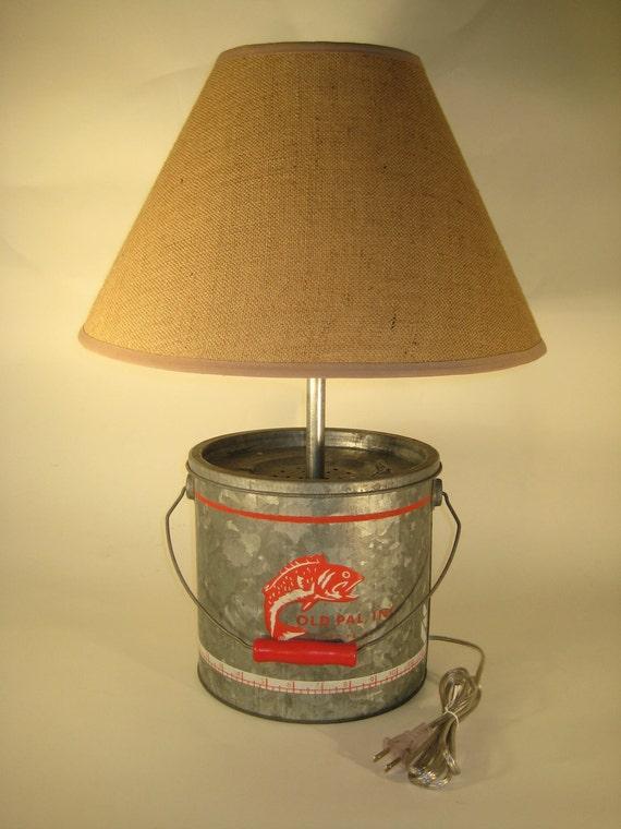 Galvanized Minnow Bucket Lamp