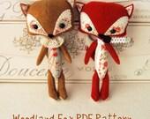 Woodland Fox PDF Pattern - Help Japan