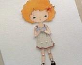 Paper Doll - Tangerine - Instant Download