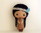 Native American Girl pdf Pattern