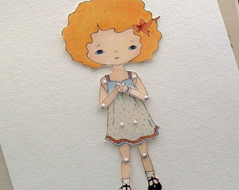 Paper Doll - Tangerine - Instant Download