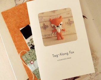 Fox Pattern, Plush Fox Pattern, Pattern Kit, Easy to Sew Pattern, Plushie Pattern, Toy Pattern