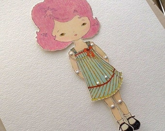 Paper Doll - Violet - Instant Download