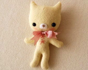Tag-Along Kitten pdf Pattern - Instant Download
