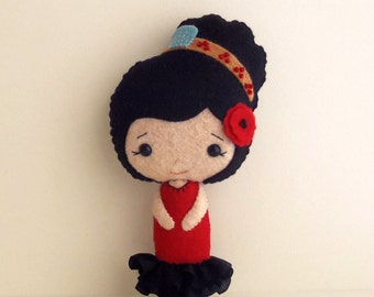 Spanish Girl pdf Pattern - Instant Download