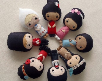 International Dolls pdf Patterns - You Choose Two