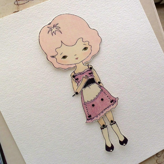 Articulated Paper Doll Print - Peony
