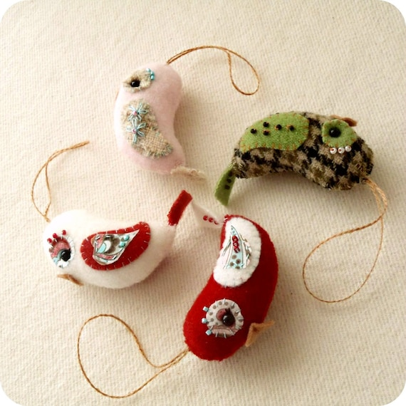 Love Bird Ornament PDF Pattern