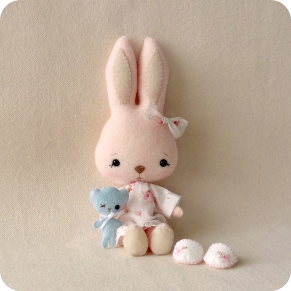 Bunnycup and Tedward pdf Pattern