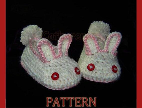 CROCHET PATTERN 212 ADULT Bunny Slippers Women's  |Baby Bunny House Slipper Crochet Pattern