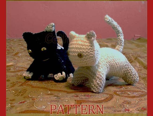 Kitten Knitting Pattern : Playful cats kittens instant download knitting pattern