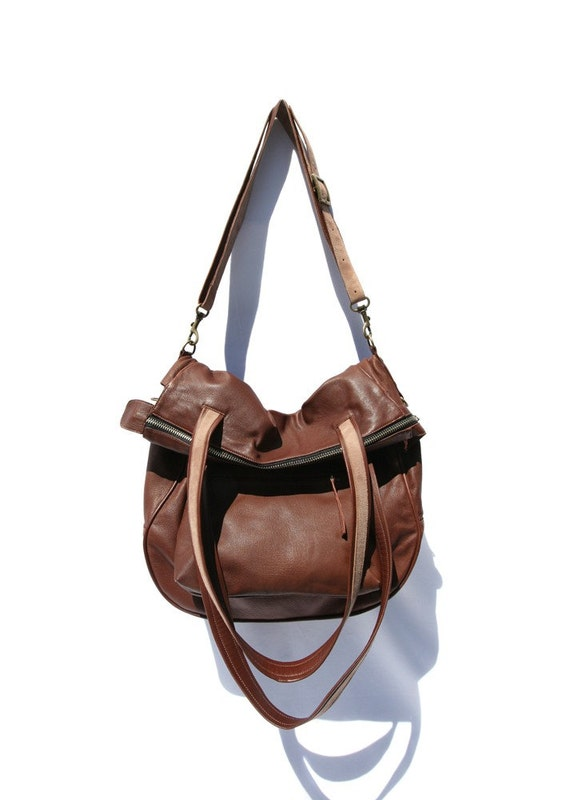 "Leather Handbag ""The Kowalski"" in chocolate brown leather"