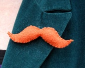 Felt Moustache - Ginger