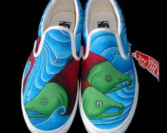 Hand Painted Vans - Salmon