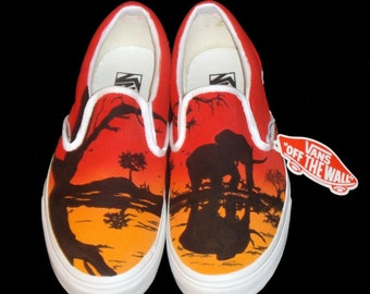 Hand Painted Vans - African Sunset