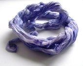 Crocus - hand painted silk shawl kerchief coiled rolled