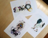 Print set - three A4 prints - Girls obscured