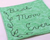 Quilted Mug Rug Mini Placemat - Best Mom Ever