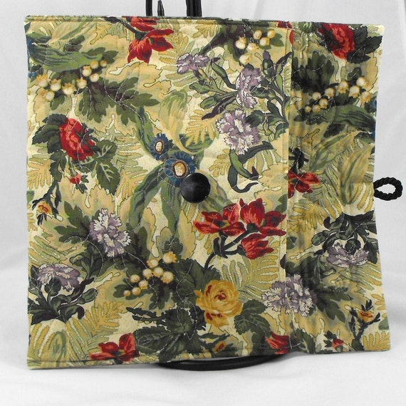 Quilted iPad Air, Nook HD Plus, Kindle Fire HDX 8.9 Cover Case - Floral Print