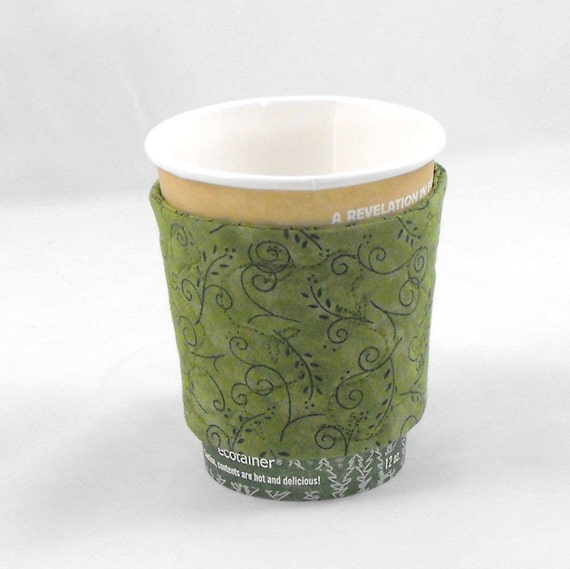 Coffee Cozy Coffee Sleeve - Green Quilted