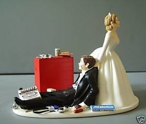 Auto Racing Mechanic on Racing Auto Mechanic Customized Wedding Cake Topper