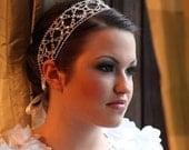 Wedding Rhinestones Wide Bridal Headband, Vintage Style Wedding Headband, Art Deco