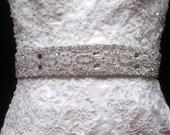 Bridal Dress Gown Beaded Jeweled Embellished Crystal Belt Sash