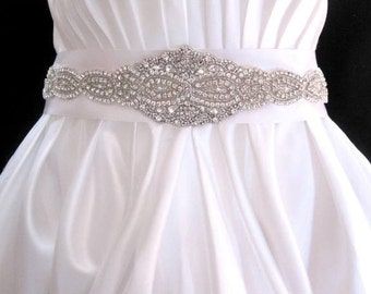 Wedding Dress Beaded Sash Crystal Belt