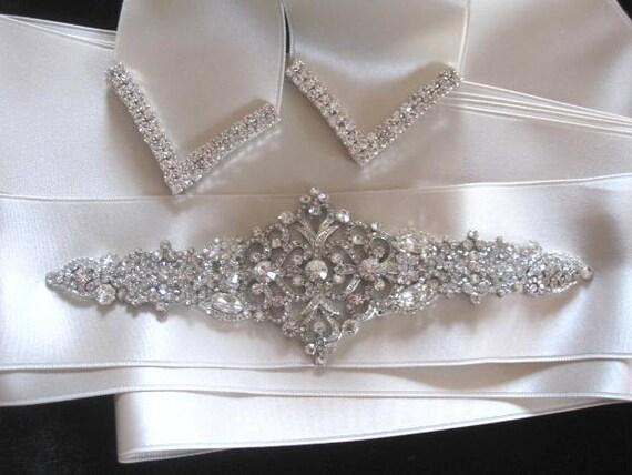 Wedding Sashes Bridal Belt Beaded Jeweled Crystal Sash Belt