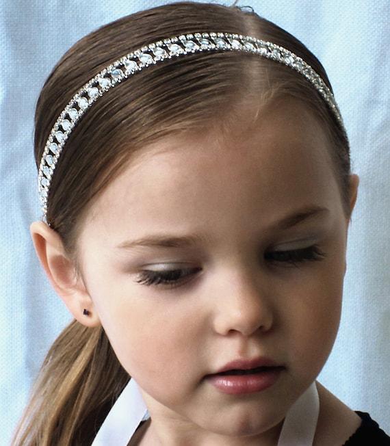Flower Girl Wedding Headband - Girl Toddler Teen Flower Headband-Wedding Hair Accessories