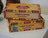Holy Smokes...Lord Clinton Cigar Boxes (set of two) for the manly man